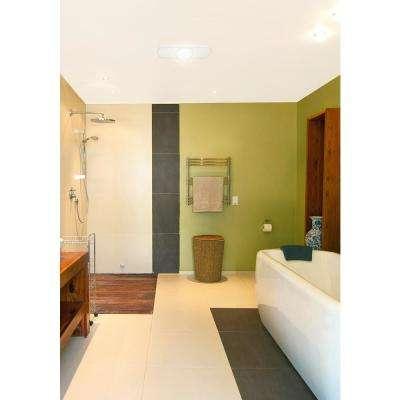 Quiet 100 CFM 2.0 Sones Ceiling Bathroom Exhaust Fan with 6-Watt LED Light, ENERGY STAR
