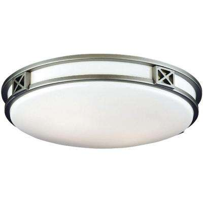 Crossroads 2-Light Glacier Silver Ceiling Fixture