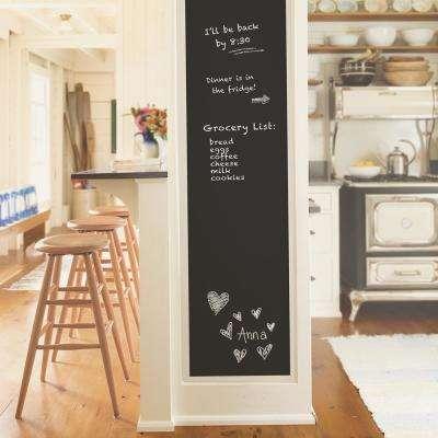 30.8 sq. ft. Black Vintage Chalkboard Peel and Stick Wallpaper
