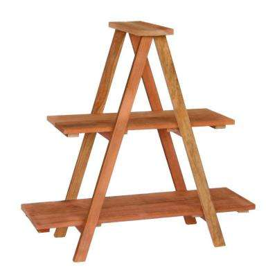 36 in. Redwood Ladder Shelving Unit