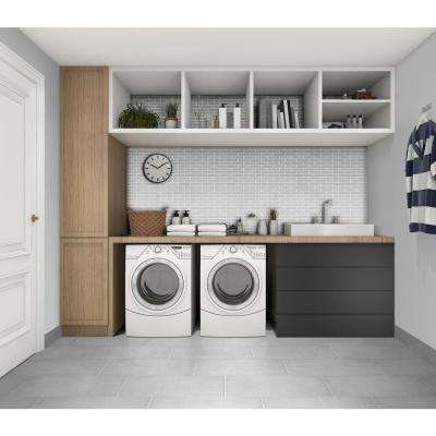 Royal Linen White 3 in. x 12 in. Porcelain Floor and Wall Bullnose Tile (5 sq. ft. / case)