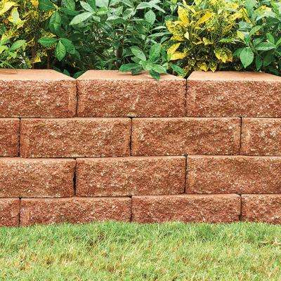 RockWall Small 6.75 in. L x 11.63 in. W x 4 in. H Red Concrete Retaining Wall Block (144-Piece/46.5 sq. ft./Pallet)