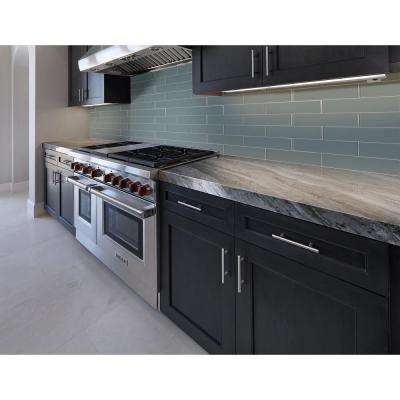 Harbor Gray 3 in. x 9 in. x 8mm Glass Wall Tile (3.8 sq. ft. / case)