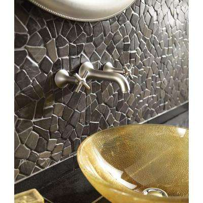 Indonesian Balinese Nights 12 in. x 12 in. x 6.35 mm Natural Stone Pebble Mesh-Mounted Mosaic Tile (10 sq. ft. / case)