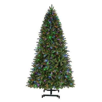 7 ft. to 9 ft. Pre-Lit LED Virginia Pine Grow and Stow Artificial Christmas Tree with 600 Color Changing Lights