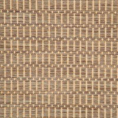 Saddlestitch Cocoa and Natural 2 ft. x 12 ft. Indoor/Outdoor Runner Rug