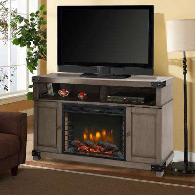 Hudson 53 in. Freestanding Electric Fireplace TV Stand in Dark Weathered Gray