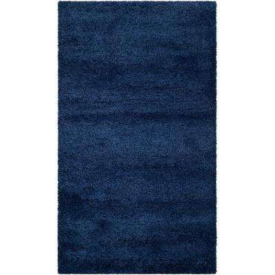 Milan Shag Navy 5 ft. 1 in. x 8 ft. Area Rug