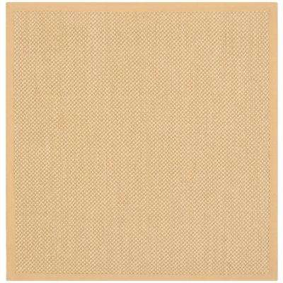 Natural Fiber Maize/Wheat 4 ft. x 4 ft. Square Area Rug
