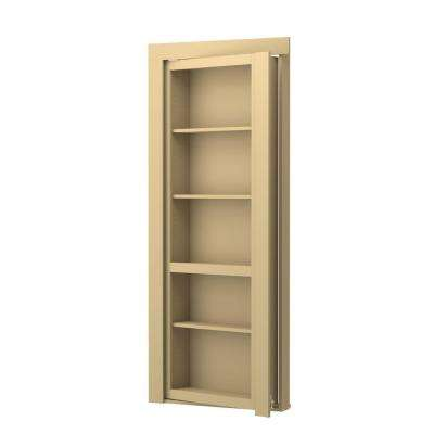 Assembled Flush Mount Paint Grade Unfinished Interior Single Prehung Bookcase Door