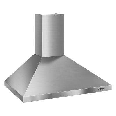Gold 30 in. Convertible Wall Mount Range Hood in Stainless Steel