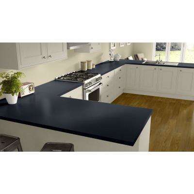 2 in. x 3 in. Laminate Countertop Sample in Navy Legacy with Standard Matte Finish
