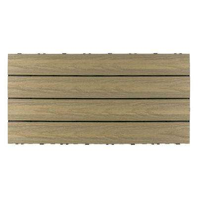 UltraShield Naturale 1 ft. x 2 ft. Quick Deck Outdoor Composite Deck Tile in Roman Antique (20 sq. ft. per box)