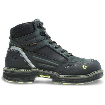 Men's Overman Black Full-Grain Leather Waterproof Composite Toe Boot