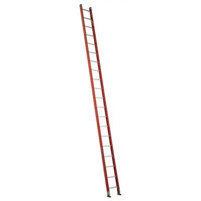 20 ft. Fiberglass Single Ladder with 300 lbs. Load Capacity Type IA Duty Rating