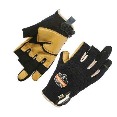 ProFlex Gray Heavy-Duty Leather-Reinforced Framing Work Gloves