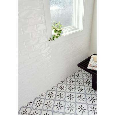 Whisper White 3 in. x 6 in. Handcrafted Glazed Ceramic Wall Tile (1 sq. ft. / case)