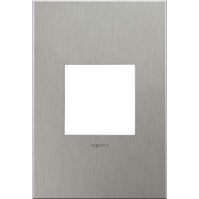 1-Gang 2 Module Wall Plate - Brushed Staninless Steel