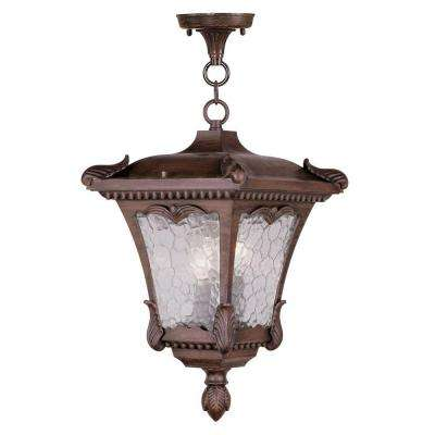 Providence 3-Light Hanging Outdoor Imperial Bronze Incandescent Lantern