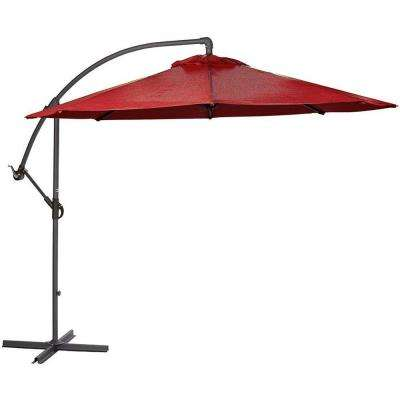 8.9 ft. Cantilever Patio Umbrella in Red