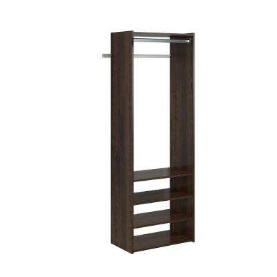 Select 25 in. W Espresso Wood Closet Tower