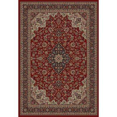 Persian Classics Medallion Kashan Red 7 ft. 10 in. x 11 ft. 2 in. Area Rug