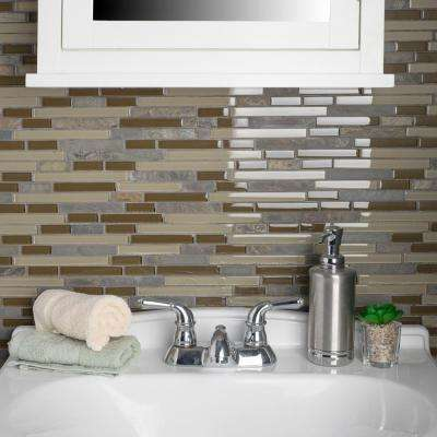Tessera Piano Brixton 11-5/8 in. x 11-3/4 in. x 8 mm Glass and Stone Mosaic Tile
