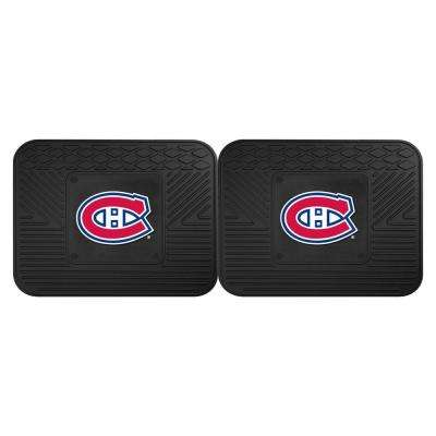 NHL Montreal Canadiens Black Heavy Duty 14 in. x 17 in. 2-Piece Vinyl Utility Mat