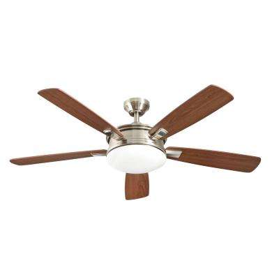 Daylesford 52 in. LED Indoor Nickel Ceiling Fan