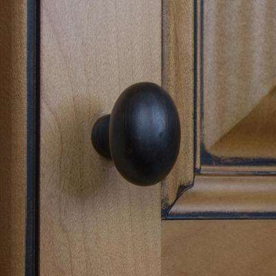 1-1/8 in. Dia Oil Rubbed Bronze Classic Oval Cabinet Knob (10-Pack)