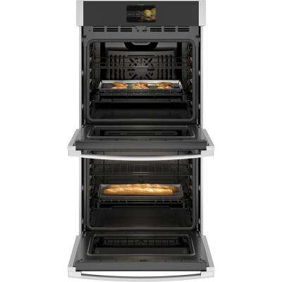 Profile 27 in. Smart Double Electric Wall Oven with Convection (Upper Oven) Self-Cleaning in Stainless Steel