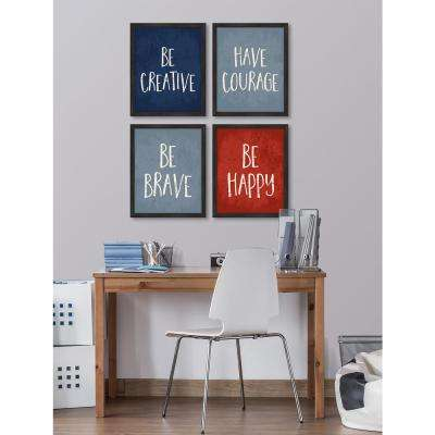 "16 in. x 13 in. ""Be Creative (Navy)"" Framed Giclee Print Wall Art"