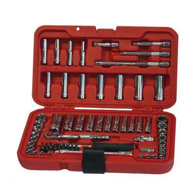 1/4 in. Drive MM/SAE Socket Set (62-Piece)