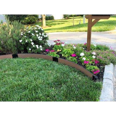 1 in. Series 16 ft. Uptown Brown Composite Curved Landscape Edging Kit