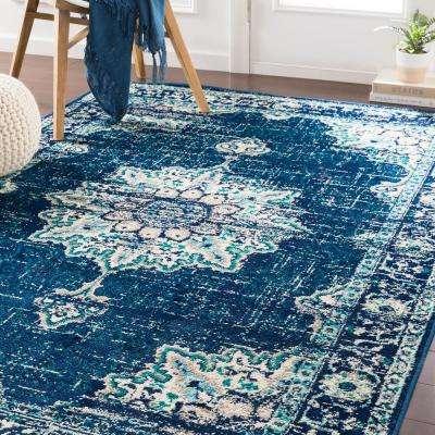 Sora Teal/Blue 2 ft. 2 in. x 7 ft. 6 in. Oriental Runner Rug