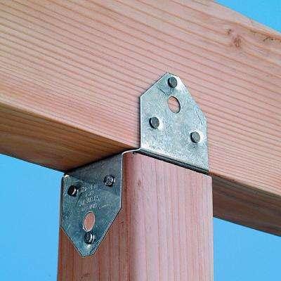 BC Galvanized Post Cap for 4x Nominal Lumber