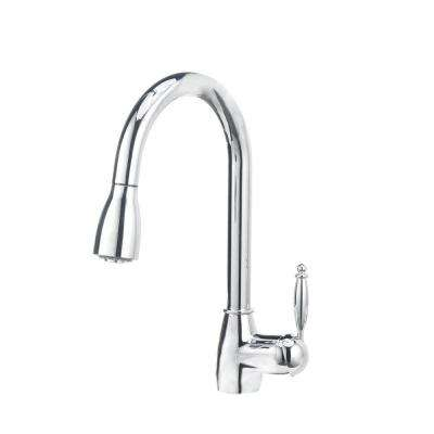Grace II Single-Handle Pull-Down Sprayer Kitchen Faucet in Polished Chrome
