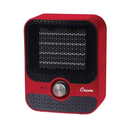 1,200-Watt Ceramic Personal Heater - Red