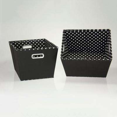 10 in. x 14 in. 2 Toned Fabric Tapered Bins (Set of 2)