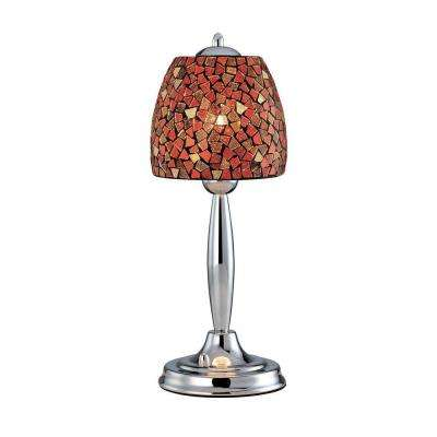19 in. Polished Steel Table Lamp