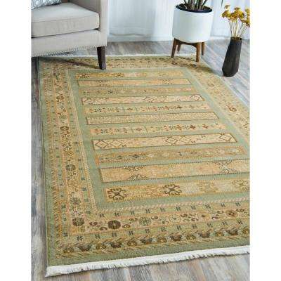 Fars Viceroy Light Green 2' 7 x 10' 0 Runner Rug