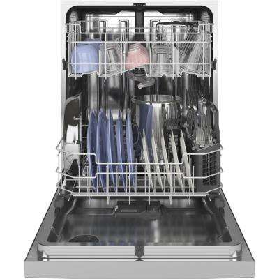 Front Control Tall Tub Dishwasher in Stainless Steel with Stainless Steel Tub and Steam Prewash, 50 dBA