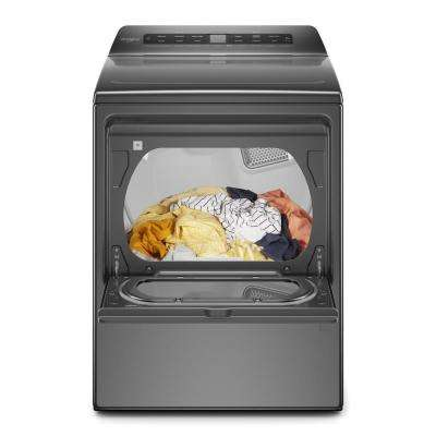 7.4 cu. ft. 120-Volt Smart Chrome Shadow Gas Vented Dryer with Accudry System