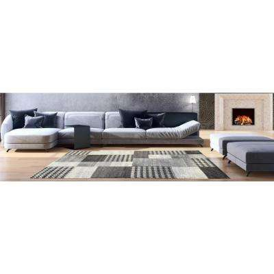 Aiza Collection Grey 5 ft. x 7 ft. Area Rug