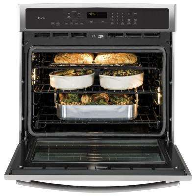 Profile 30 in. Smart Single Electric Smart Wall Oven Self-Cleaning with Convection in Stainless Steel