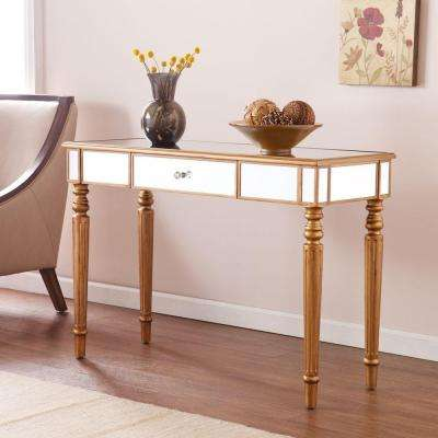 Fred Mirrored Champagne Gold Console Table