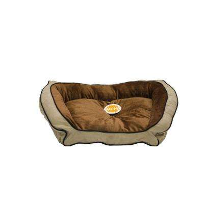 Bolster Couch Small Mocha/Tan Pet Bed