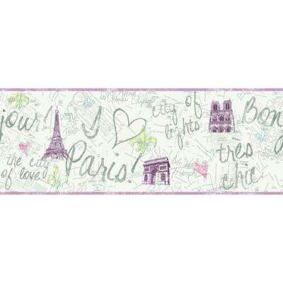 Inspired By Color Paris Wallpaper Border