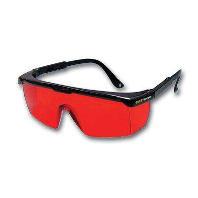 Red Laser Enhancement Glasses for Use with Rotary Laser Levels or Straight-Line Lasers (1-Size)