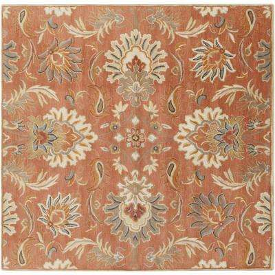 Vitrolles Rust 9 ft. 9 in. x 9 ft. 9 in. Square Indoor Area Rug